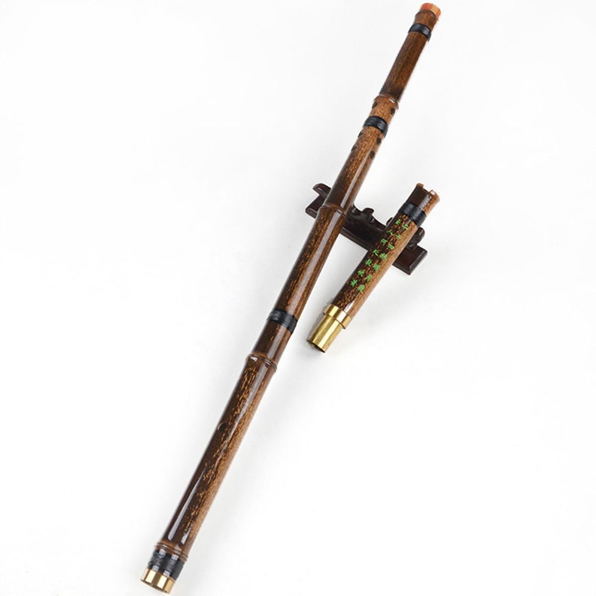Flûte de bambou pourpre 2 Sections Instruments de musique professionnels de flûte de bois Xiao G/F Key Dizi chinois pour les amateurs de musique