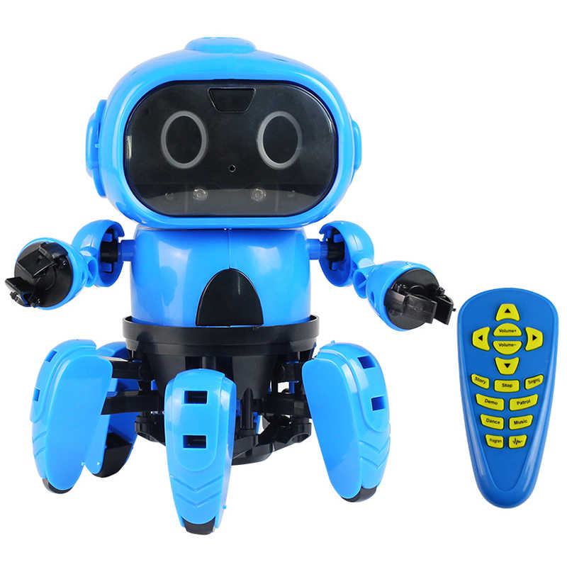 2019 новый модернизированный MoFun-963 DIY 6 брюки с широкими штанинами RC робот инфракрасное препятствие избегания жест Управление программируемый с передатчиком
