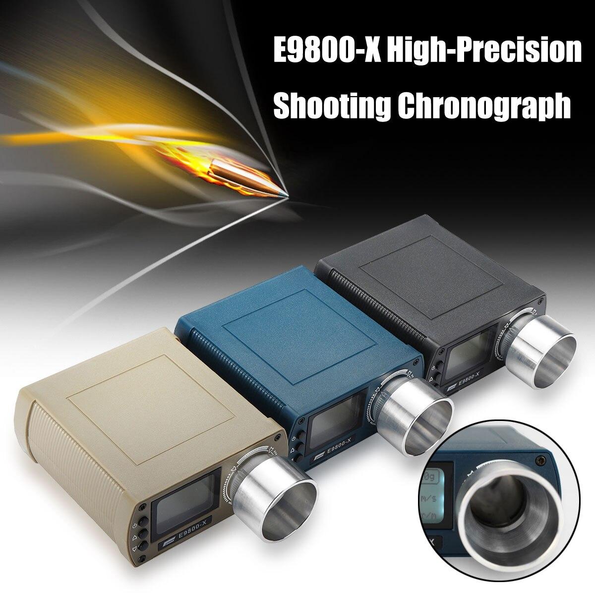 Airsoft BB E9800-X testeur de vitesse de prise de vue haute précision chronographe de prise de vue-10C à 50C 0-500J tir-énergie cinétique écran LCD