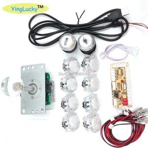Image 3 - אפס עיכוב ג ויסטיקים ארקייד DIY ערכת USB מקודד למחשב פטל Pi עותק Sanwa ג ויסטיק + LED אור מואר כפתור
