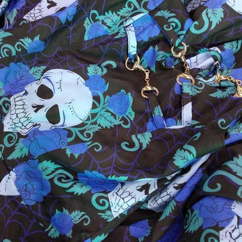 83d6fd334e7 ... Women Mini Dress Summer Goth Skull Print Vintage Casual Sundress Party  Backless Sexy Elegant A Line ...