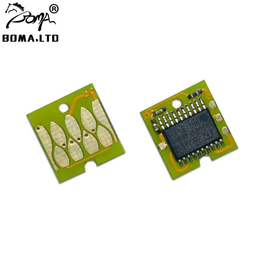 2 pc t6193 6193 manutenção tanque chip para epson certeza cor t3200 t5200 t7200 t3000 t5000 t7000 impressora plotter chip de redefinição automática