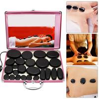 24 PCs/Set of Health Energy Volcanic Hot Stones SPA Essential Oil Volcano Massage Artifact Massage Stone Set Beauty Salon Essent