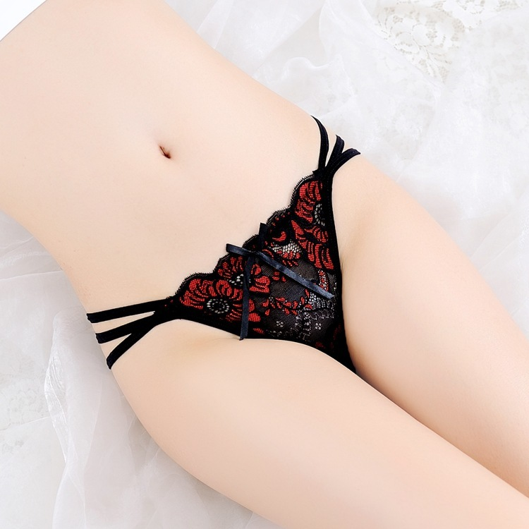 7color Gift Beautiful Lace Leaves Women's Sexy Lingerie Thongs G-string Underwear Panties Briefs Ladies T-back 1pcs/Lot SF1522