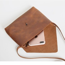 Brand Genuine Crazy Horse Leather Women Bags Cross Body Shou