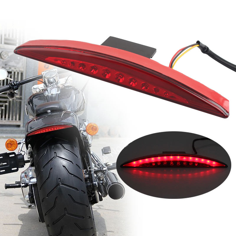 Rear Red Fender Tip Brake Tail Light LED Fits For Harley Breakout FXSB 2013 17 14-16
