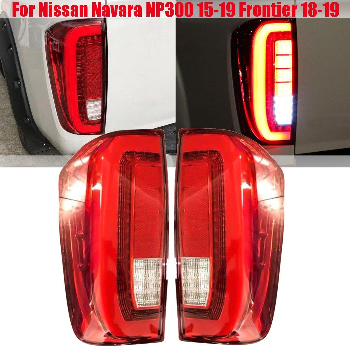 PAIR Tail Lmap Taillight Taillamp Assy Rear Brake Light Rear Lamp For Nissan Navara NP300 2015