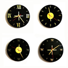 New Original Design Vinyl Records Clock 30cm Quartz Wall Modern For Home Mute Circular Watch Can Dropshipping