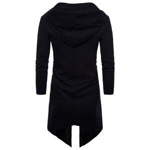Image 3 - תעלת מעיל גברים אביב אופנה מזדמן ארוך מעיל רוח Slim Fit תעלת מעיל בתוספת גודל גברים מעיל חם החורף