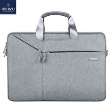 Torba na laptopa WIWU 17.3 15.6 14.1 13.3 wodoodporny notes torba na Xiaomi Pro 15.6 pokrowiec na laptopa do Macbook Air 13 Case Pro 16 torba(China)