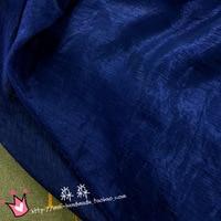 Bazin Riche Getzner Through Thin Cloth Deep Blue Brocade Silk Knit Gauze Flash Chiffon Long Dress Hanfu Along The Fiber Fabrics