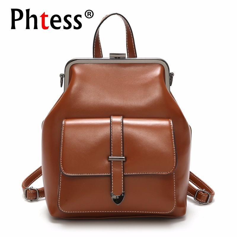 купить Women Backpacks Sac A Dos Femme Vintage Bagpack School Bags For Girls Large Capacity Solid Rucksacks Female Back Pack по цене 1290.59 рублей