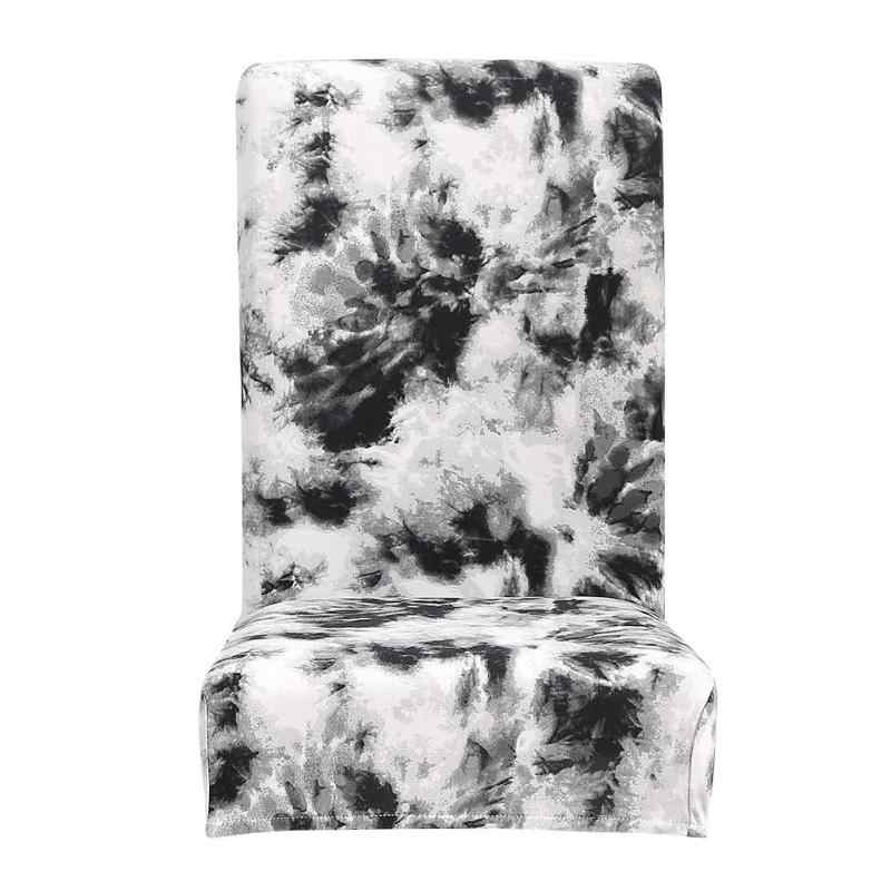 Защитный чехол Tie-dye ремесло Граффити Шаблон Обложка для ресторана отеля офиса Съемная упругое сиденье Чехол черный
