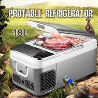 18L автомобильный холодильник морозильник автомобильный холодильник Компрессор для автомобиля домашний Пикник холодильная морозильная ка