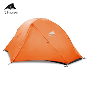Image 3 - 3F UL Gear Camping Tent Single Person Double Layer 15D/210T Hiking Tent Waterproof 3 Season 4 Season Outdoor With Mat