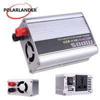 Car inverter With USB Modified 12V to 220V/ 12V to 110V/ Sine Wave Car 24V to 220V/ 500W Power Inverter 24V to 110V