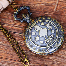 Vintage Fairy tales Theme Bronze Quartz Pocket Watches Hot sell Vintage Watches Time in the pocket Christmas Brithday Gift цена