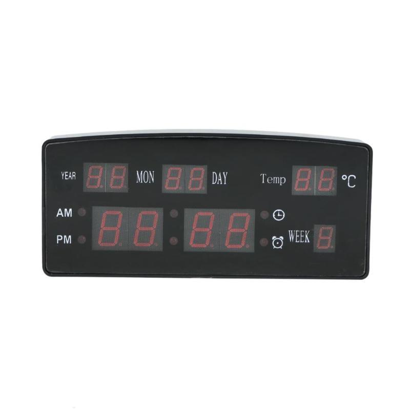 Home & Garden New Electronic Voice Perpetual Calendar Usb Digital Display Temperature Alarm Clock Eu Plug Large Table Desktop Clocks Led