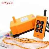 Беспроводной передатчик кнопочный переключатель MKHS 6 PA66 422,4 438 МГц кран промышленный пульт дистанционного управления Бесплатная доставка