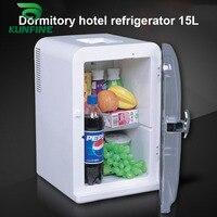 220V AC/12V DC Car Refrigerator15L Multi Function Fridge Vehicel Protable Refrigerator Freezer Cooler White low energy 45W