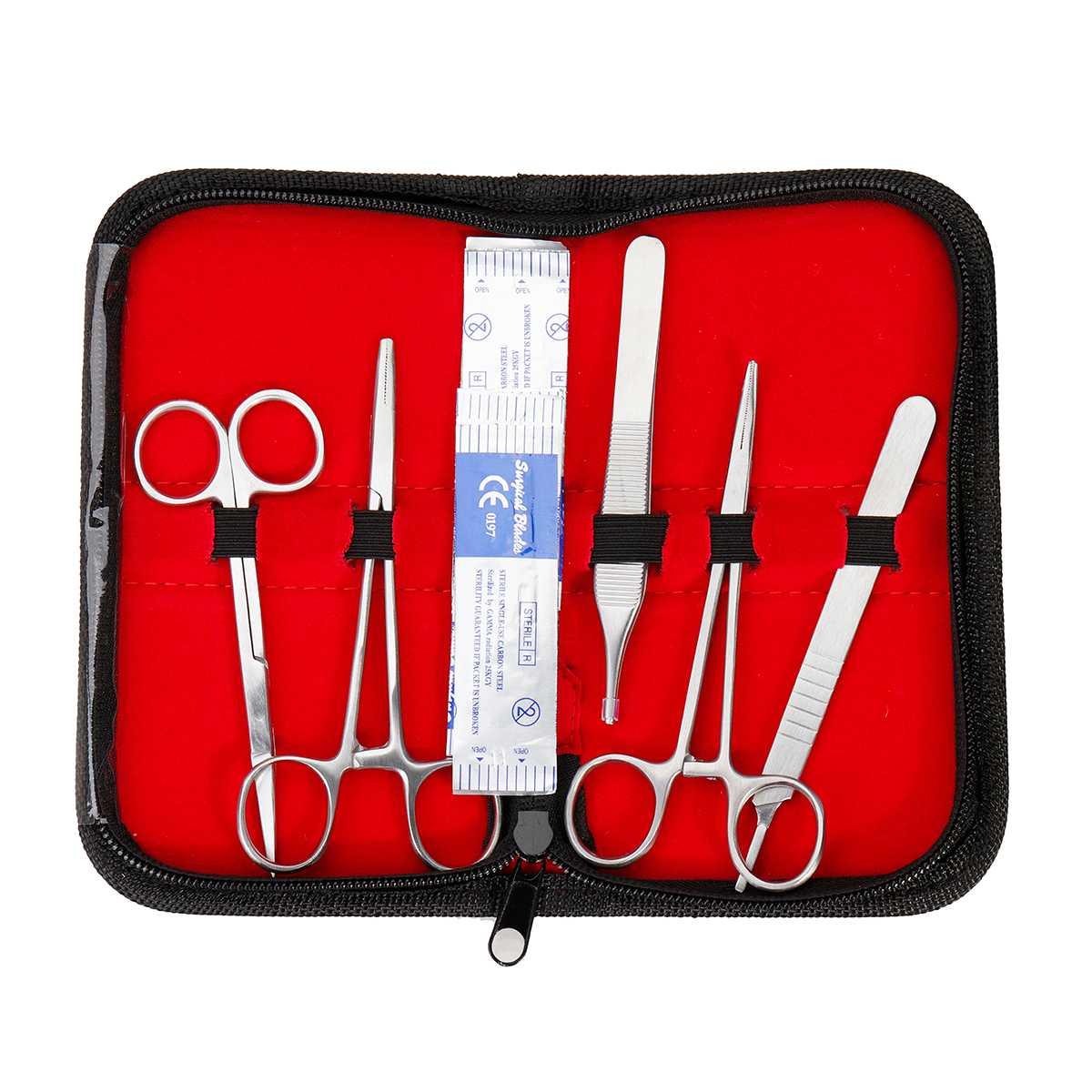 25 en 1 Kit de formation chirurgicale de Suture de peau médicale Silicone Pad aiguille ciseaux Silicone + acier inoxydable doux facile à utiliser - 4