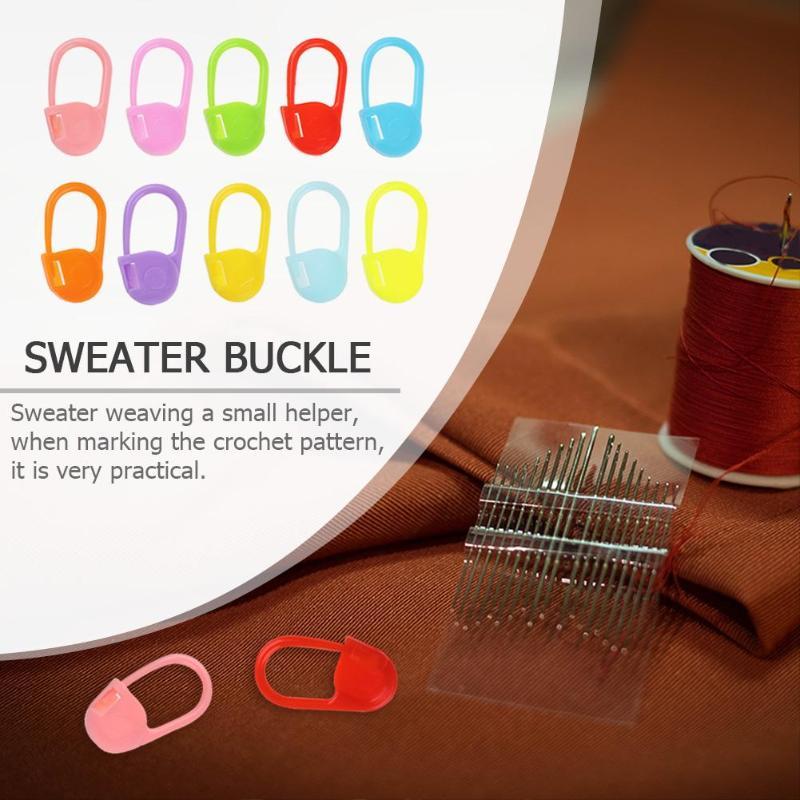 20 50 100 шт цветные пластиковые безопасные булавки свитер знак застежка Иглы вязать специальный ребенок пряжа рукоделие Ткачество инструменты