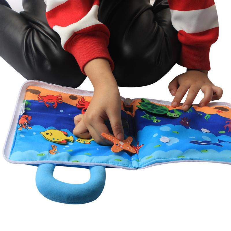 3D Cloth Book Early Education Toys Touch And Feel Activity For Children