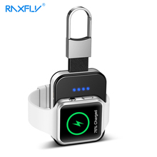 RAXFLY Original Design Fast Mini Wireless Charger For Apple i Watch Series 1 2 3 4 Power Bank Dock 950mAH