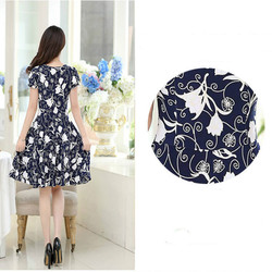 2019 new Plus Size Summer Slim Thin Sexy Short Sleeve Dress Lady Print Floral Dress women clothes 6