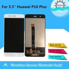 "5.5 ""Original M & SenสำหรับHuawei P10 Plus VKY L09 VKY L29หน้าจอLCD + แผงDigitizerกรอบยึด + ลายนิ้วมือ"