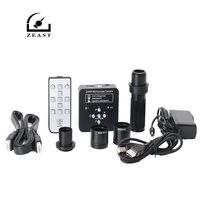 21MP Industrial Electron Microscope Camera with Lens + Adapter Camera with HDMI USB2.0 Two Output
