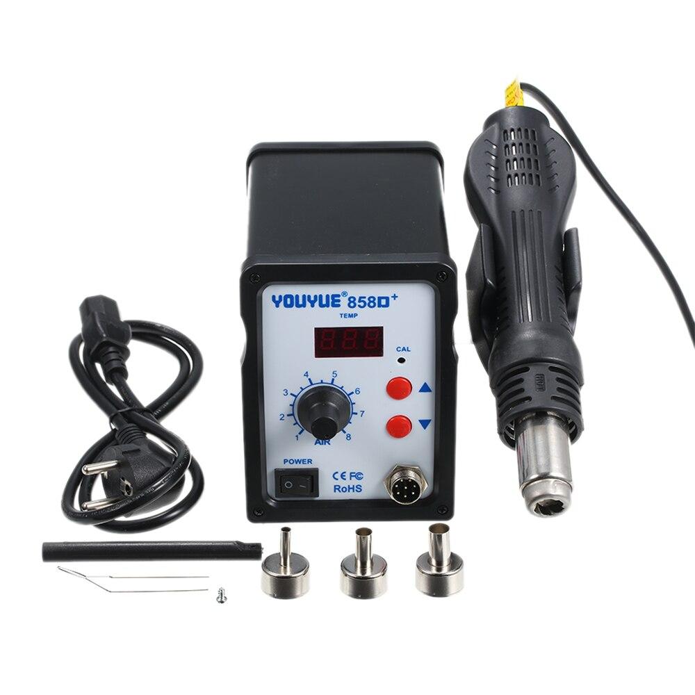 858D 700W EU Plug Soldering Station Portable LED Digital Solder Iron BGA Rework Solder Station Hot