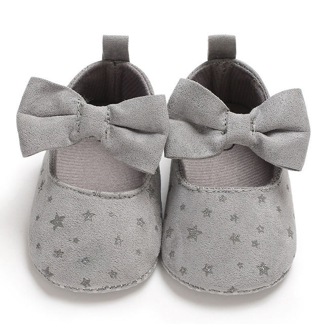 2019 New Autumn Fashion Infant Toddler Newborn Baby Girls Shoes Bow Printing Soft Crib Anti-slip Princess Shoes For Party 3