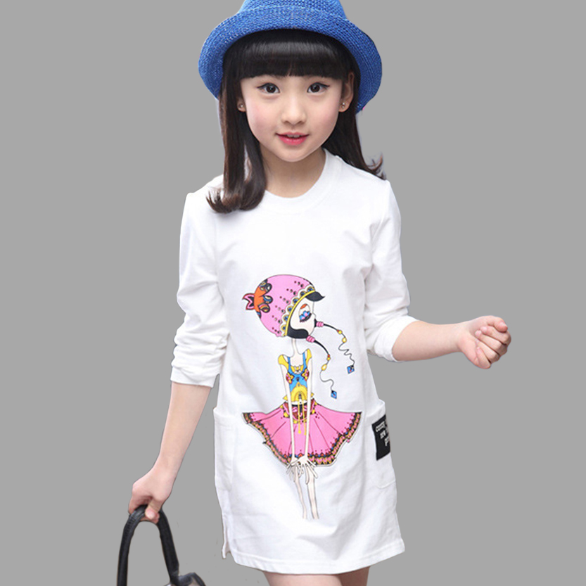 Long T-Shirts For Girls Autumn Clothing Teen Spring Teenage Clothes 6 8 10 12 14 Year
