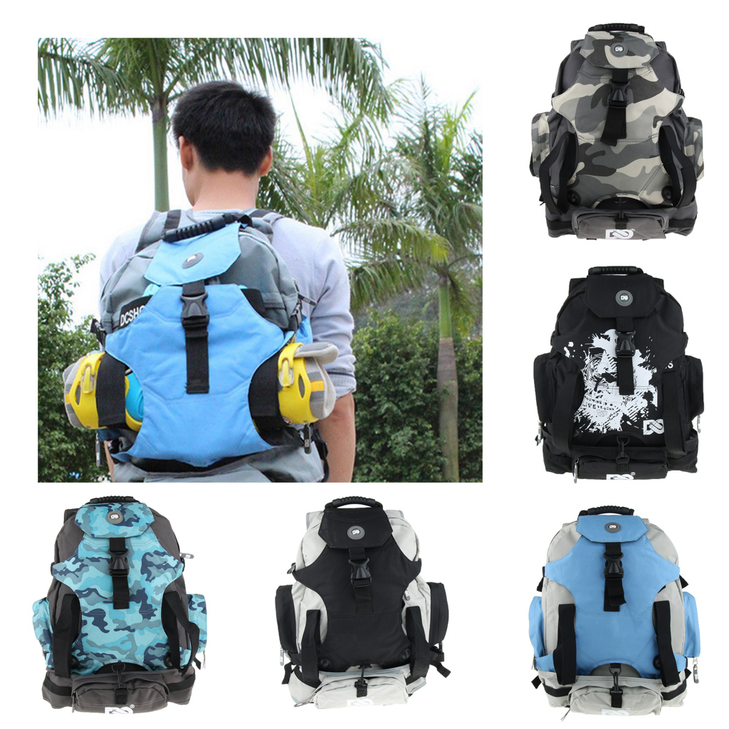 Double Shoulder Backpack Skatepack Quad Roller Skate Bag Shoulder Backpack With Portable Handle Strap for Men