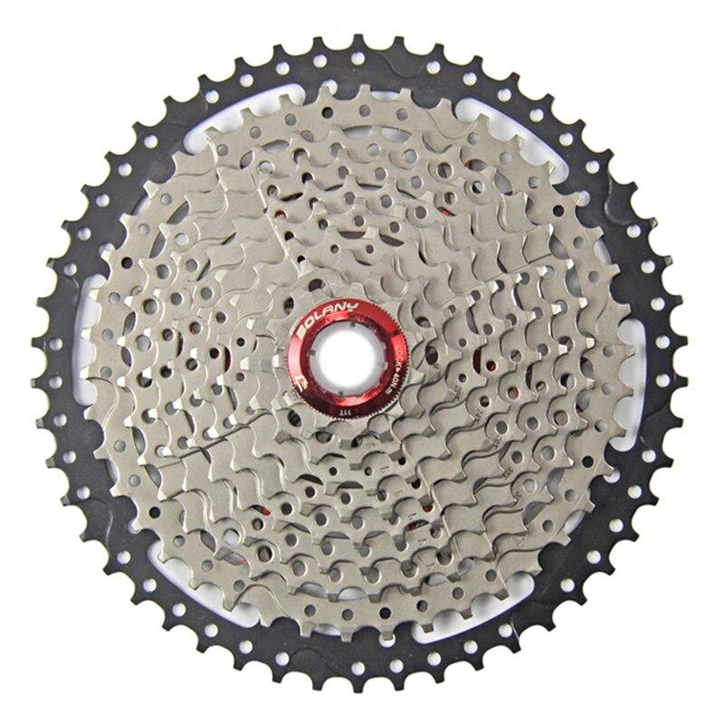 Bolany 10 vitesses 11-50 T roue libre large rapport vélo montagne vélo volant Cassete pour accessoires de vélo
