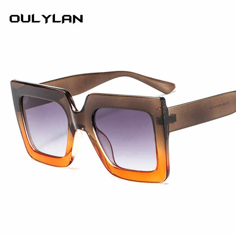 862d50c428 ... Oulylan Oversized Sunglasses Women Big Frame Vintage Luxury Brand  Designer Sun Glasses Fashion Gradient Shades Men ...