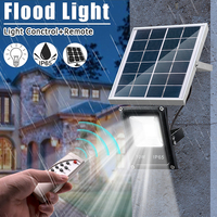 The Latest Solar Floodlights 20W Remote Control + Timer + Lighting Control Outdoor Lighting Waterproof LED Spotlight Garden Lamp