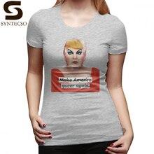 Hacer América Gay de nuevo camiseta hacer América Gay T camisa cuello mujer  azul marino camiseta 3c79fa79d7f