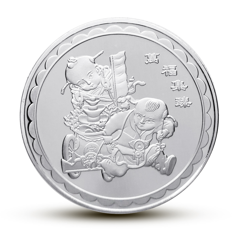 Year of the Pig Souvenir Coin Silver Plated Commemorative Medal Tourism GiftsTFH