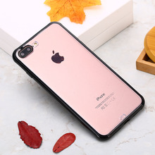 KISSCASE Plain Transparent Case for iPhone 7 8 6 6s plus Colored border Phone case for iPhone X XS MAX XR shockproof cover coque цены