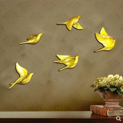 Trójwymiarowe naklejki ścienne, piękne jaskółka ptak rzemiosło, kreatywne dekoracje ścienne, pięciu ptaków na zestaw w Naklejki ścienne od Dom i ogród na  Grupa 1