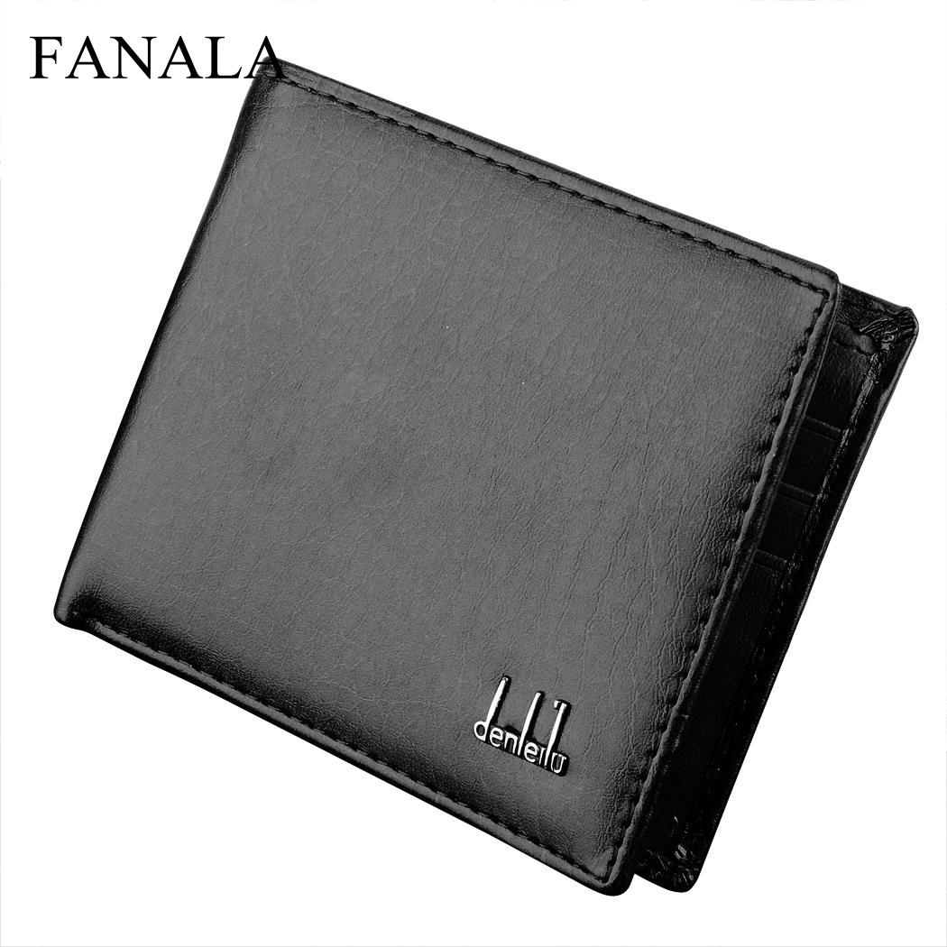Wallet Men Synthetic Leather Wallet Money Pockets Credit/ID Cards Holder Purse 2 ColorsWallet Men Synthetic Leather Wallet Money Pockets Credit/ID Cards Holder Purse 2 Colors