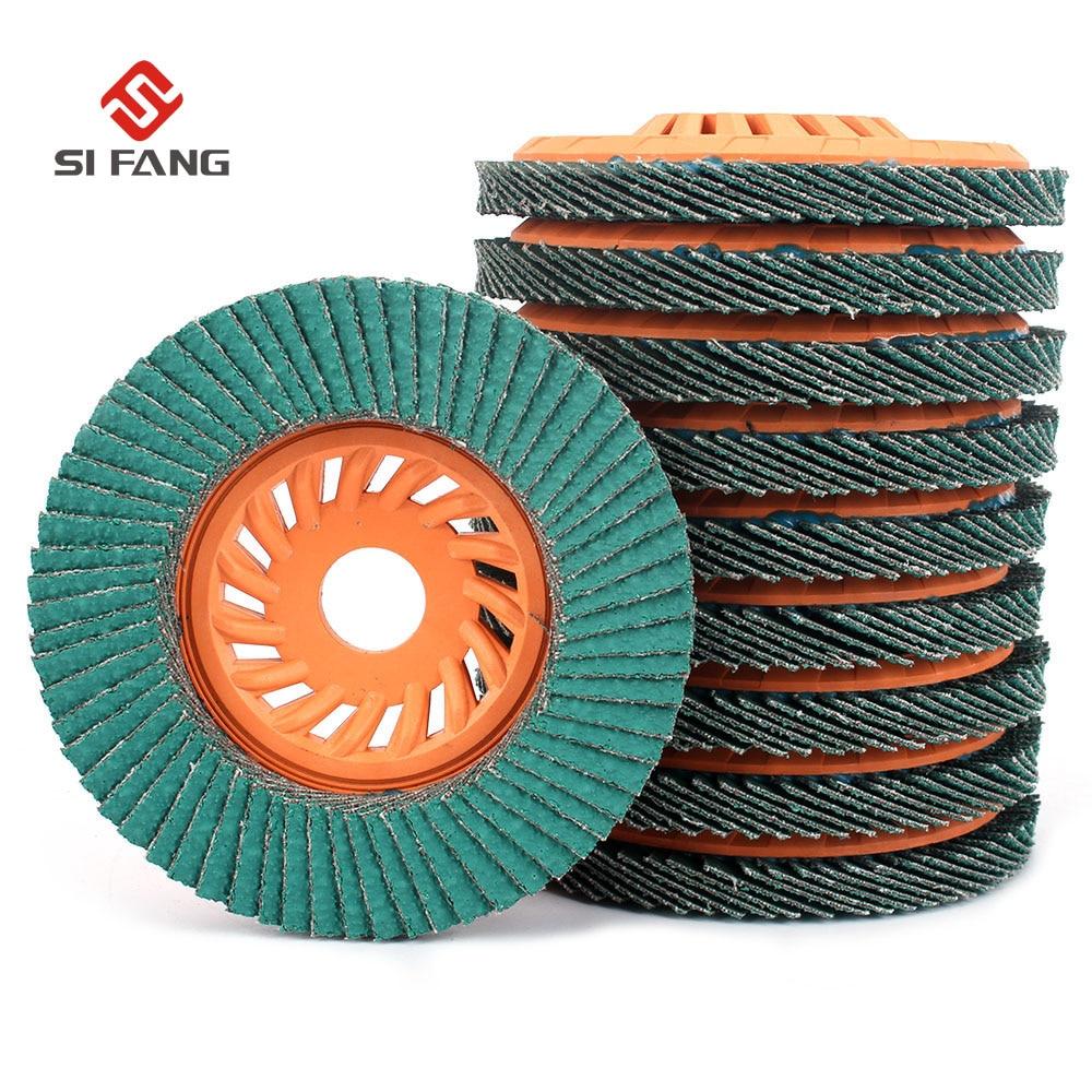 10Pcs 4'' Flap Disc Flap Wheel 60Grit Especially Suitable For Grinding Aluminum Metal Zirconia Alumina 5/8