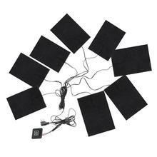 8 в 1 взаимный обмен данными между компьютером и периферийными устройствами электрическая сушилка для белья грелку углеродного волокна Подогреваемая одежда зарядного устройства с Регулируемая третья Шестерни коврик на противень нагреватель