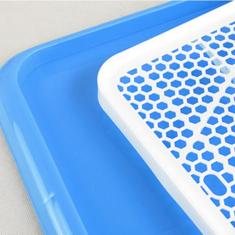 Antibacterial Potty Training Pads for Puppies and Small Pets with Fine Grid Toilet Tray 5