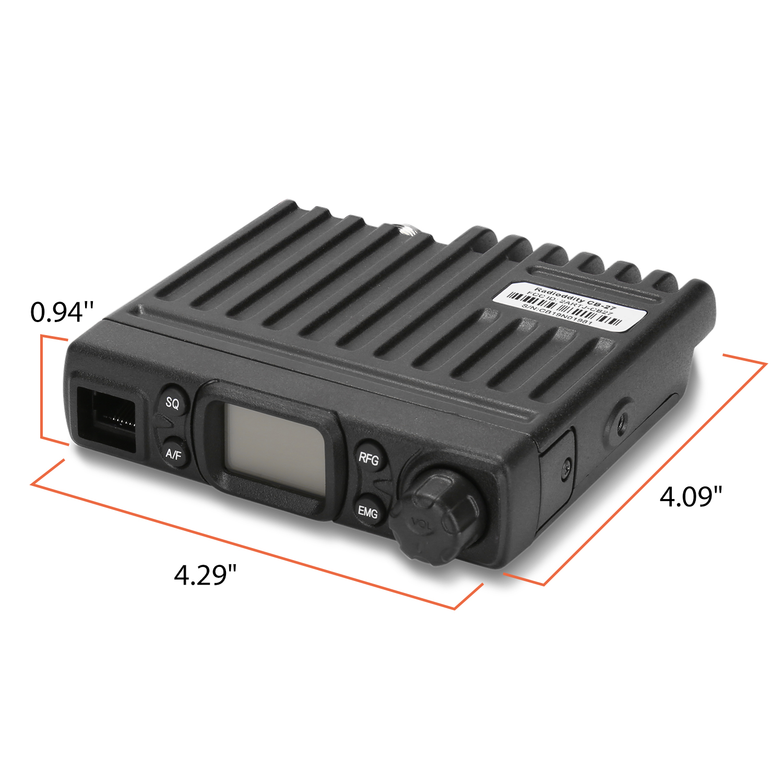 רשימת הקטגוריות Radioddity CB-27 רישיון-חינם רדיו CB עם מיקרופון 40-ערוץ AM PA מערכת RF רווח נייד מידיים חירום ערוץ 9/19 (4)
