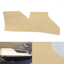 Car Interior Cow Leather Left Driving Side Door Panel Armrest Handle Pull Protection Cover for BMW 5 Series E60 2007   2010