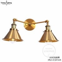 American Vintage Wall Lamp Indoor Lighting Bedside Lamps Retro Wall Lights For Reading Room Bedroom Home Free Shipping