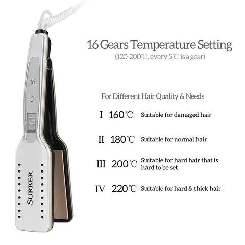 Ceramic Titanium Flat Iron Straightening Iron Hair Styling Tools Professional Straightener Adjustable Temperature  Hair Curler Multan